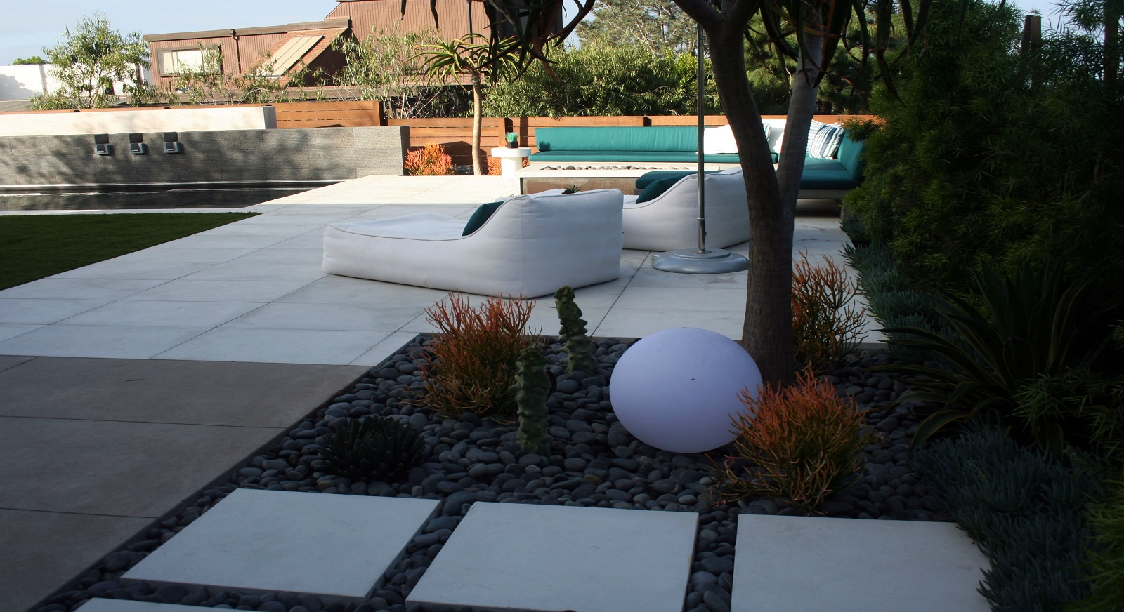 cross construction remodel landscape pool concrete pavers