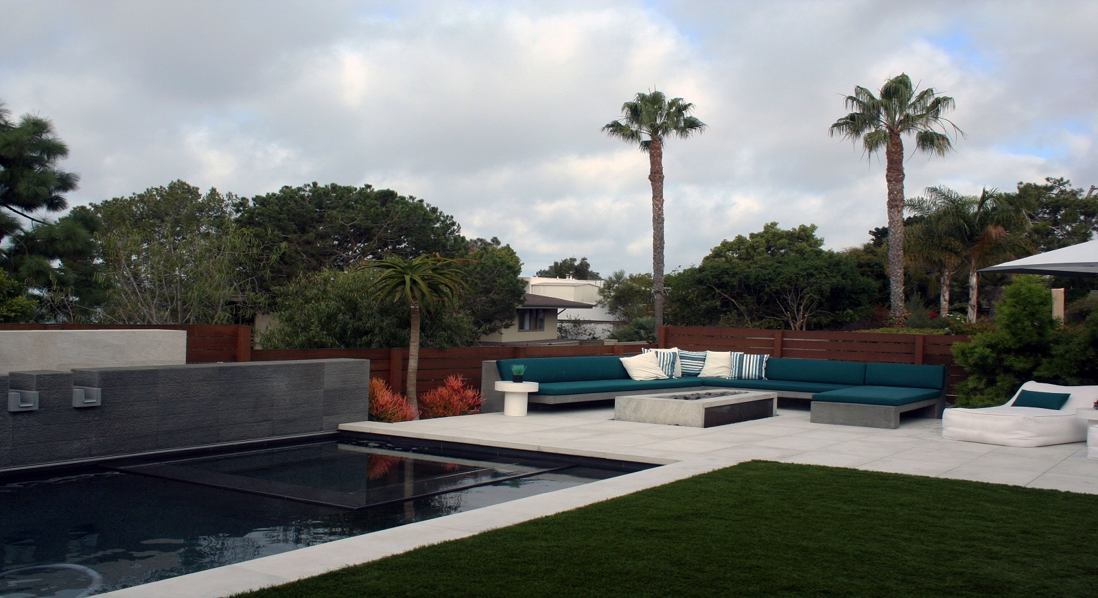 cross construction remodel landscape fence pool spa fire corten