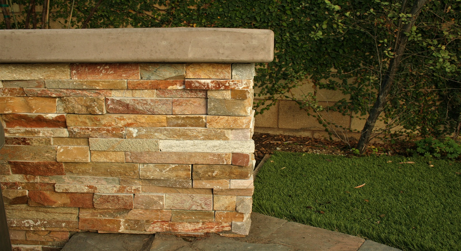 cross construction remodel landscape retaining wall stone