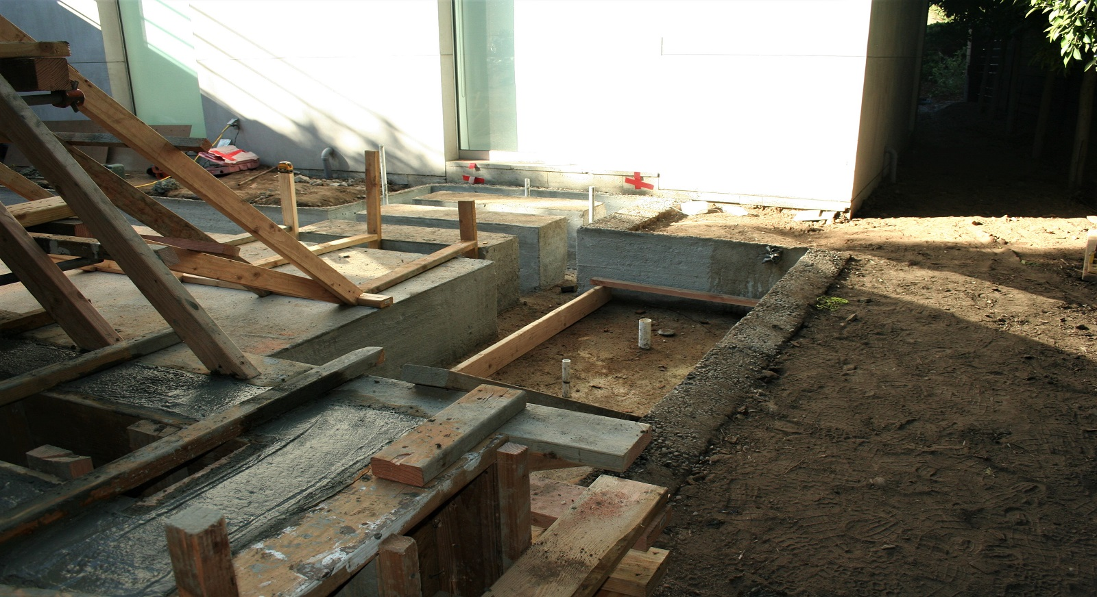 cross construction remodel landscape water feature
