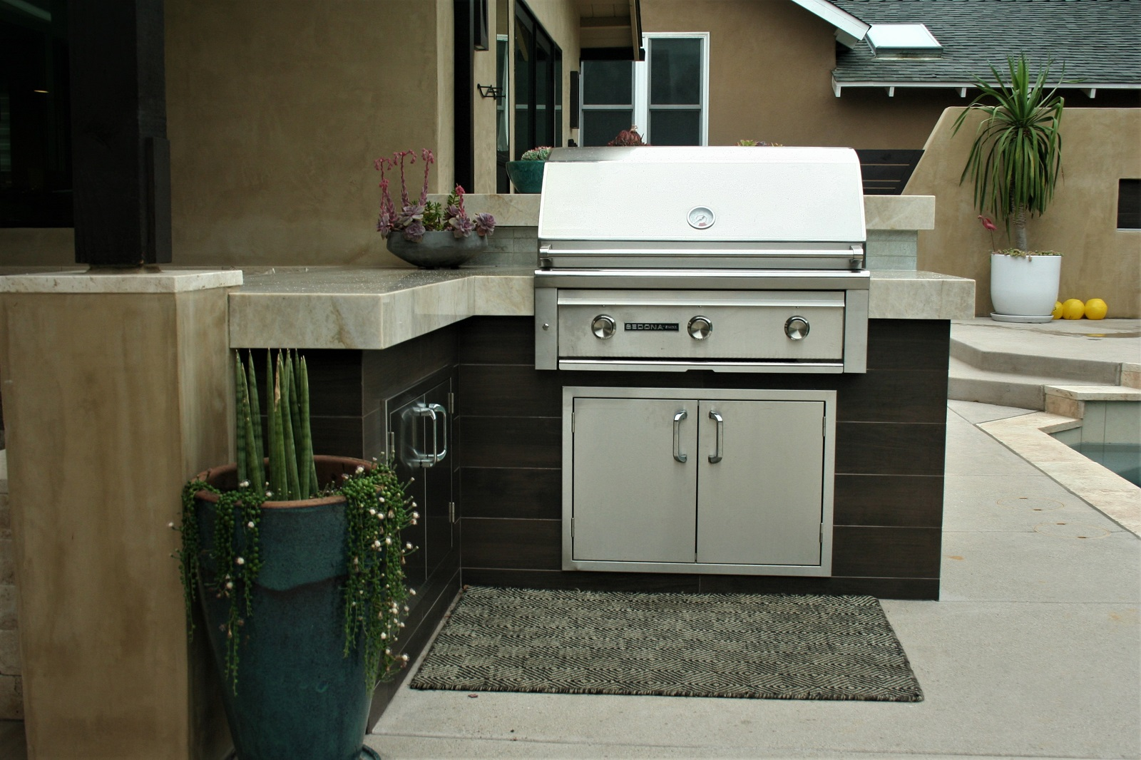 cross construction remodel contemporary outdoor kitchen