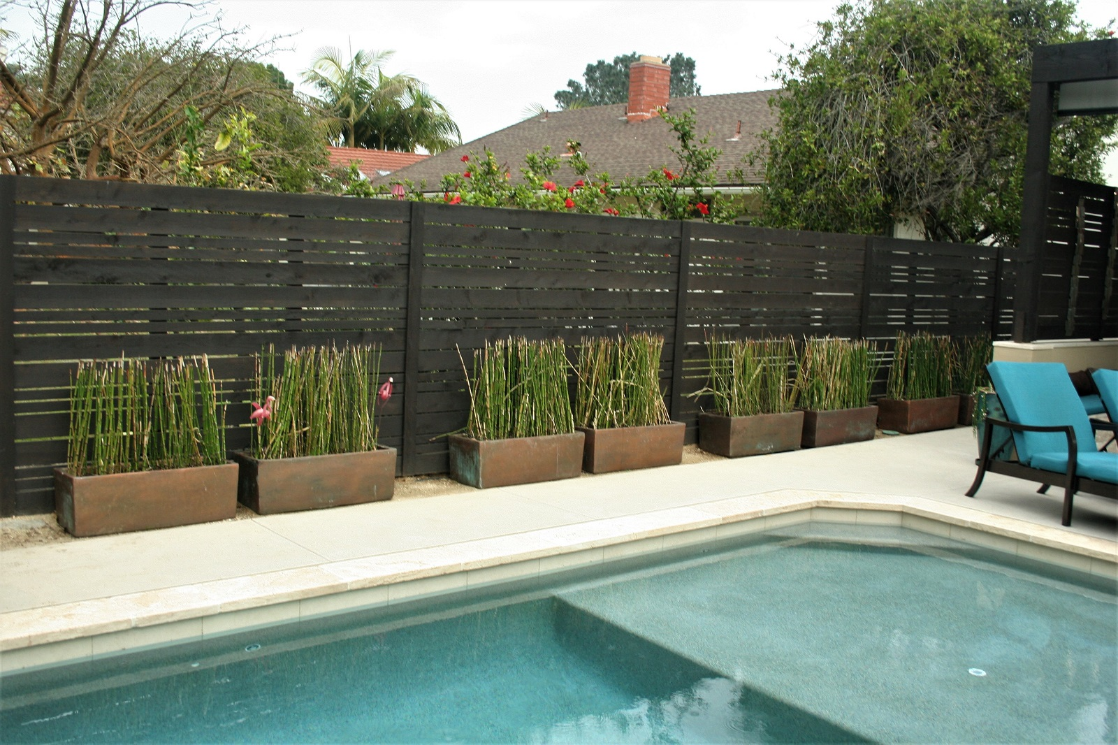 cross construction remodel contemporary fence pool