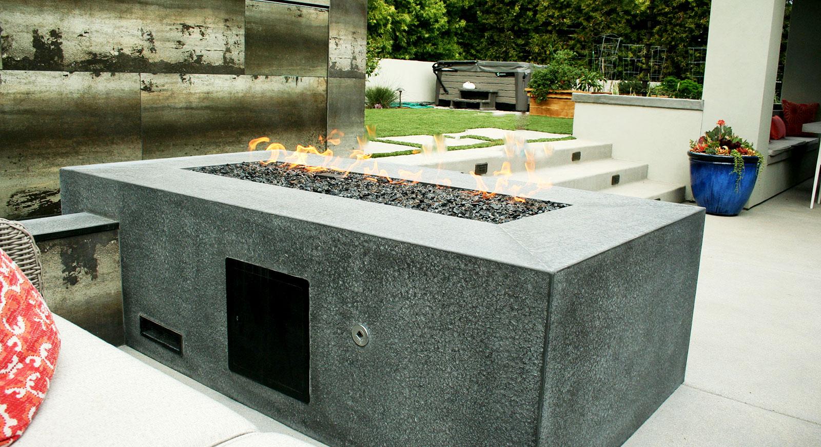 Cross Construction Inc. Fire element. Basalt