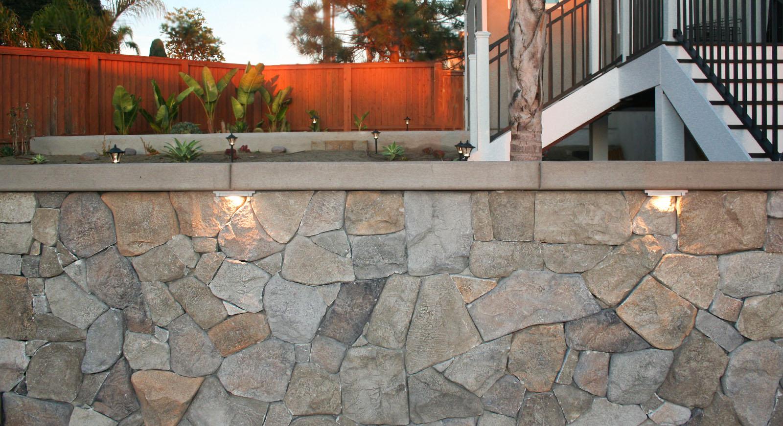 Cross Construction Stone Wall