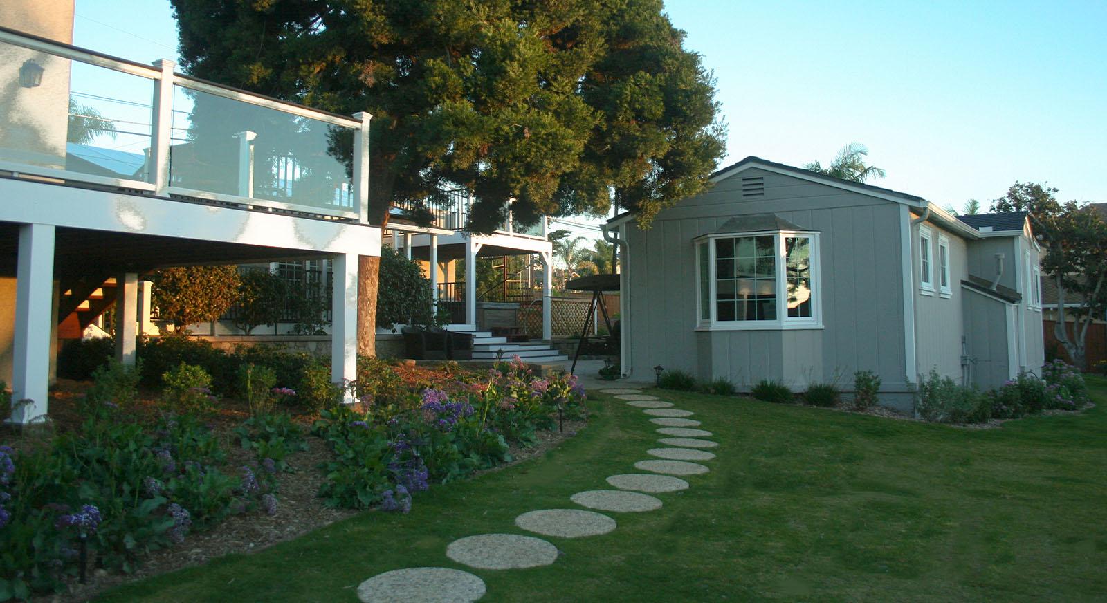 Cross Construction Backyard Stone Path, Accessory Dwelling Unit