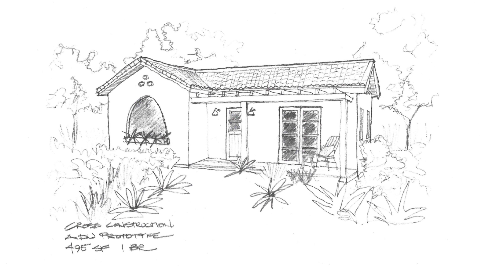 CROSS 495 ADU Spanish style sketch_resized