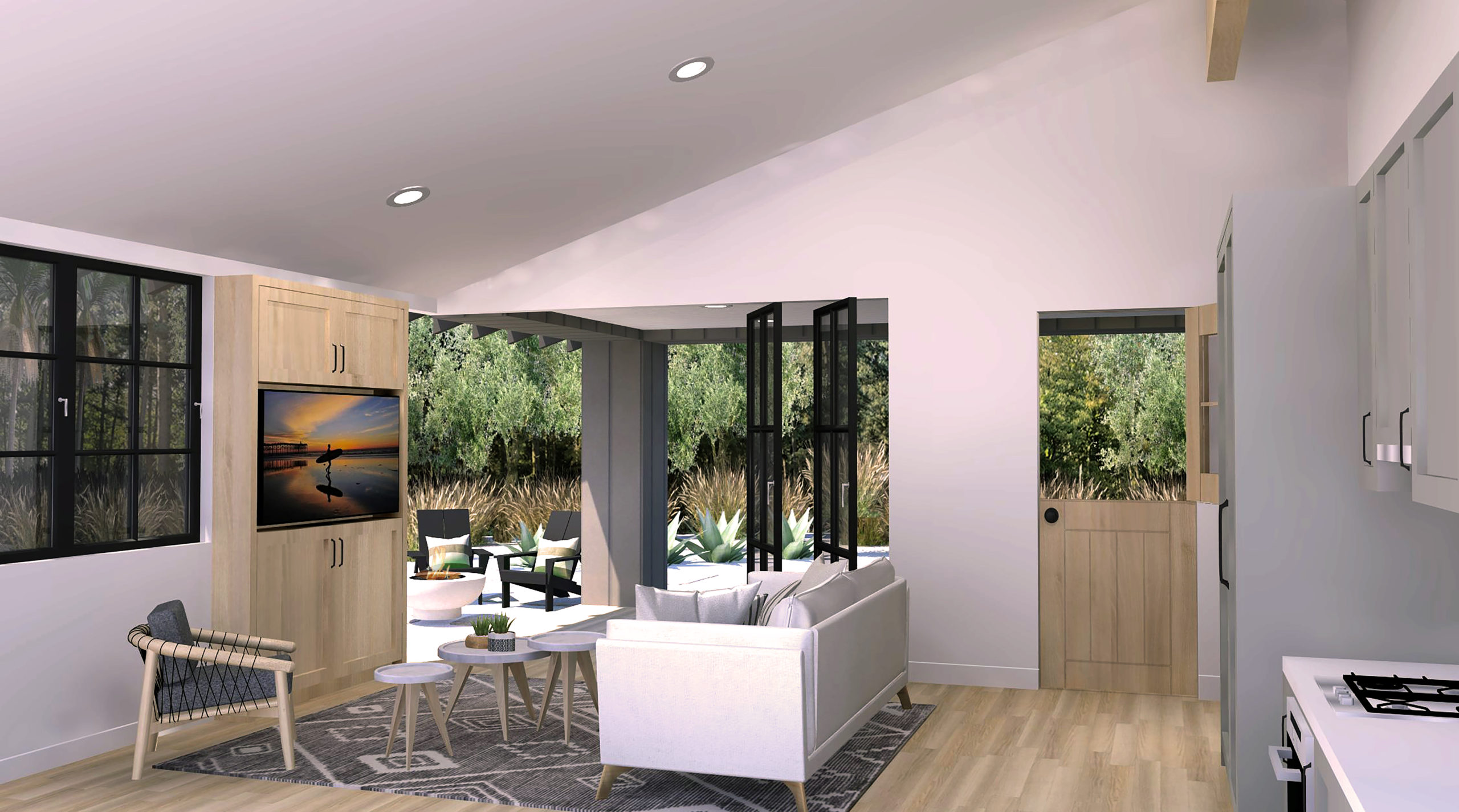 Cross Ready-to-Build_2bd-1ba_749 SF ADU great room rendering